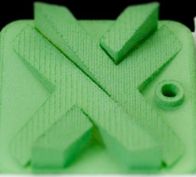 Dyed Green Nylon SLS 3D printing