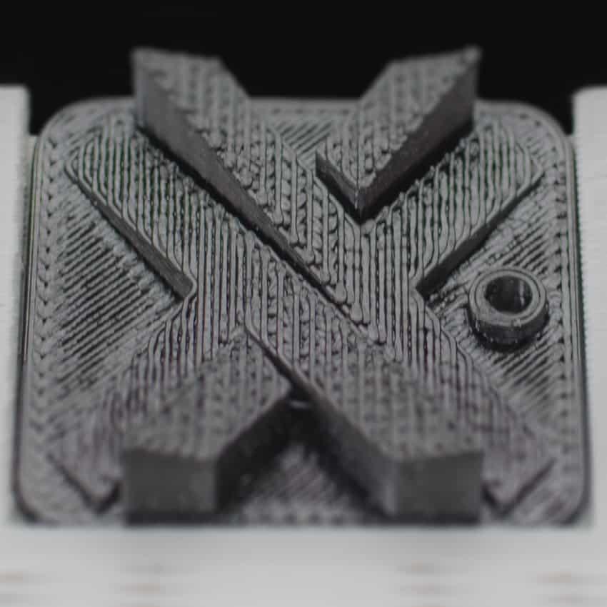 FDM 3D printed tile in ABS M30 dark grey