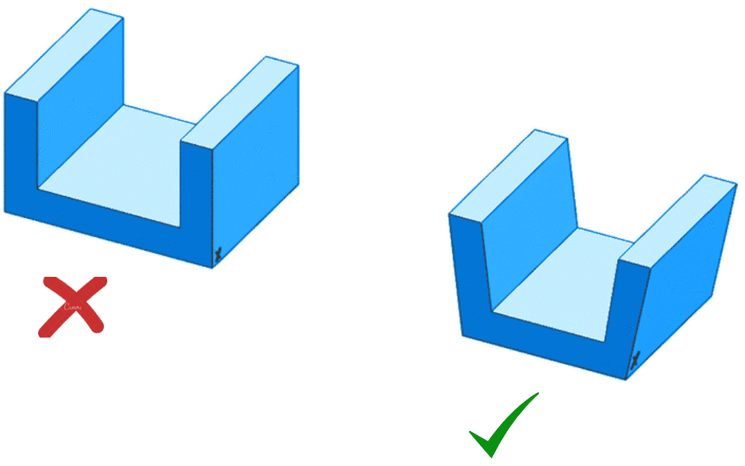 Design Tips for Injection Moulding - Draft angles